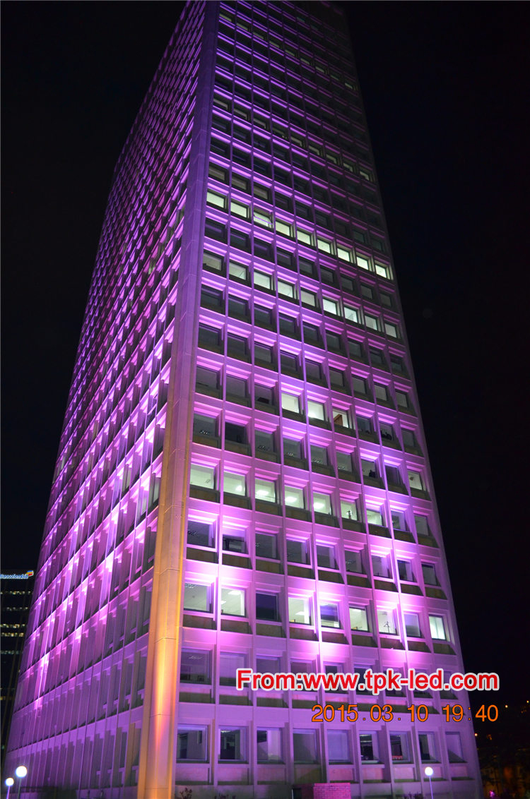 Topking Lighting Project Courier Torre Bavaria Building